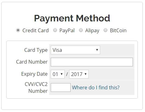 webhostingpad支払い方法